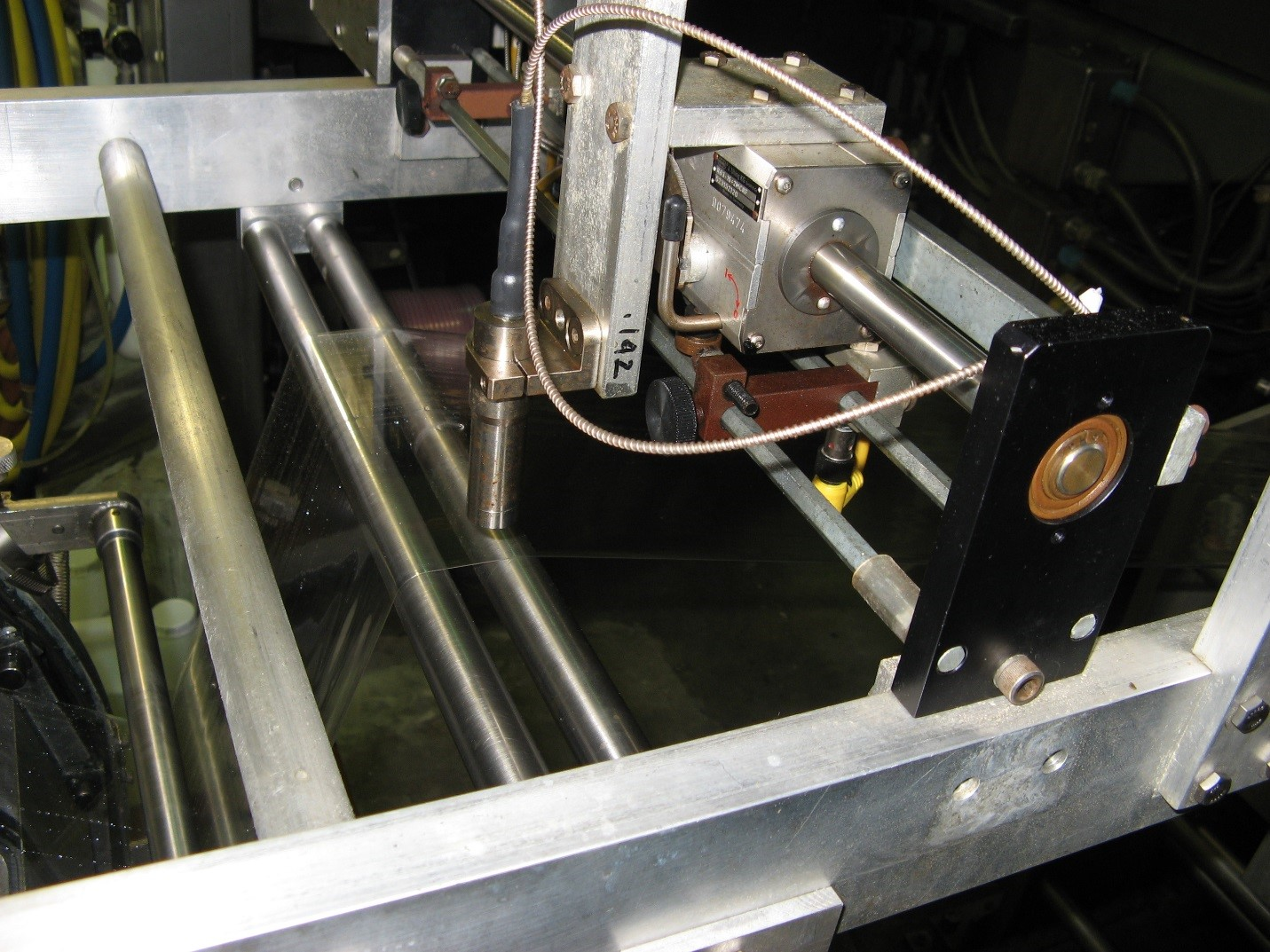 Multiple Probe installation, with scanners, at a major consumer goods company, measuring coating of multi-layer film for food packaging