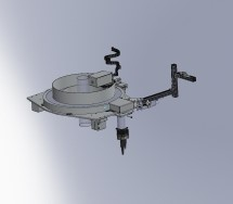 Single Probe installation on 360° scanning system for blown film